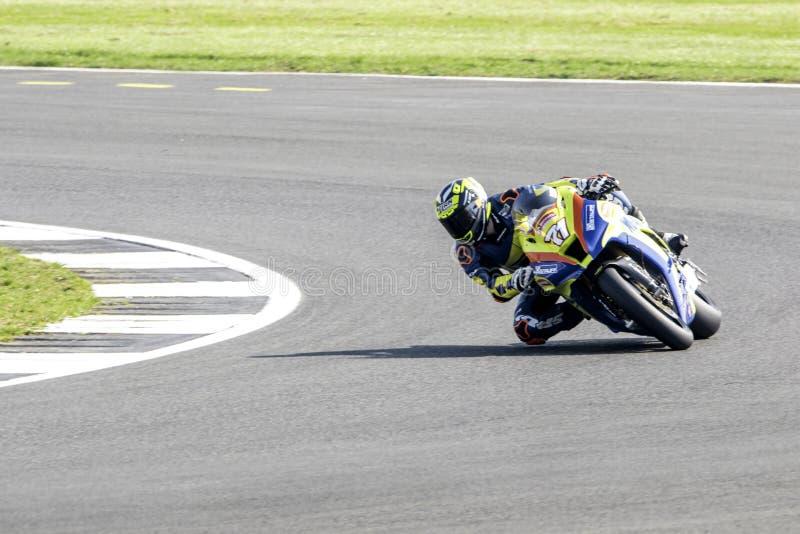 Silverstone motocyklu Ścigać się zdjęcia stock