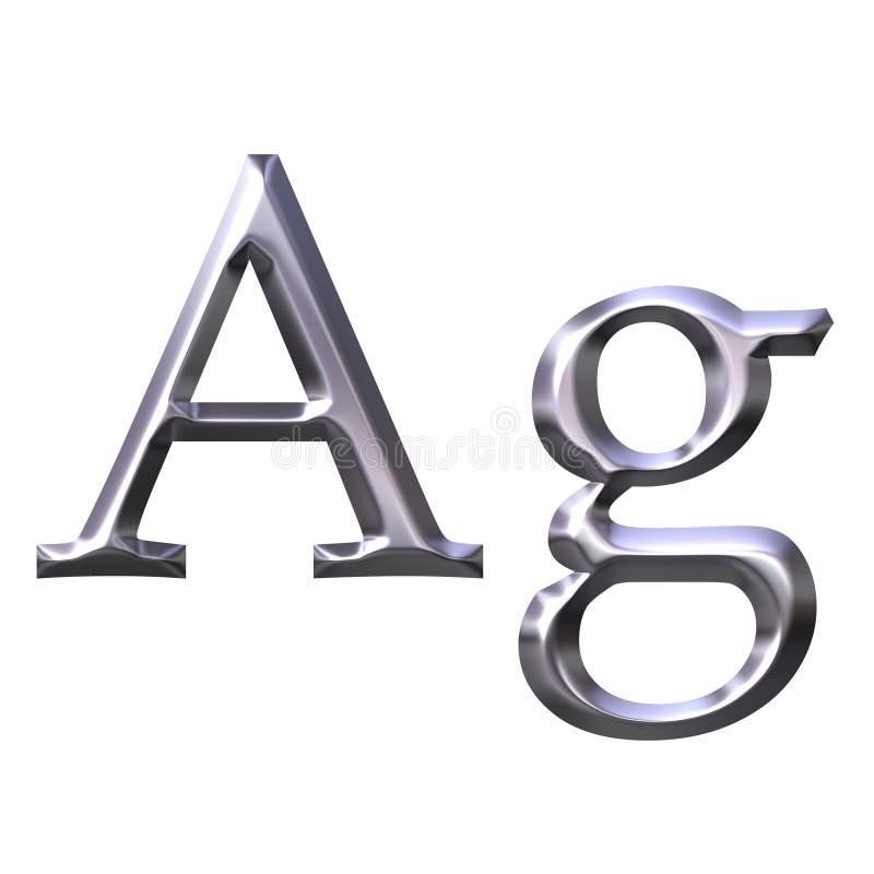 silversymbol royaltyfri illustrationer