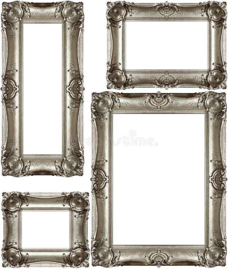 Silvertappningramar royaltyfria foton