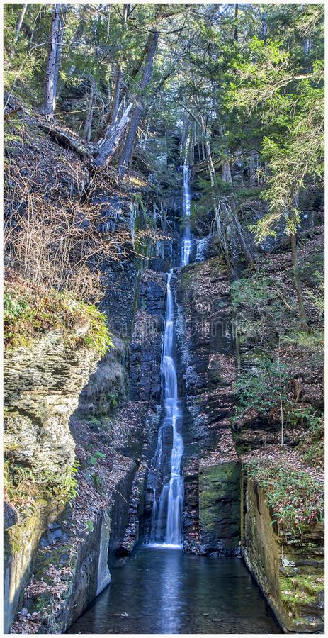 Silverthread Falls at Dingmans Falls stock image