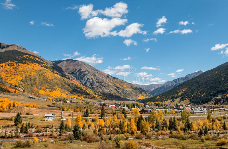 Silverton Colorado in Fall stock photo