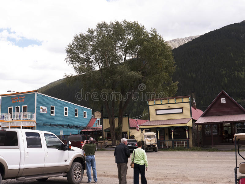 Silverton an old Silver Mining town in the State of Colorado USA. The Narrow Gauge Railway from Durango to Silverton that runs through the Rocky Mountains by the royalty free stock photos
