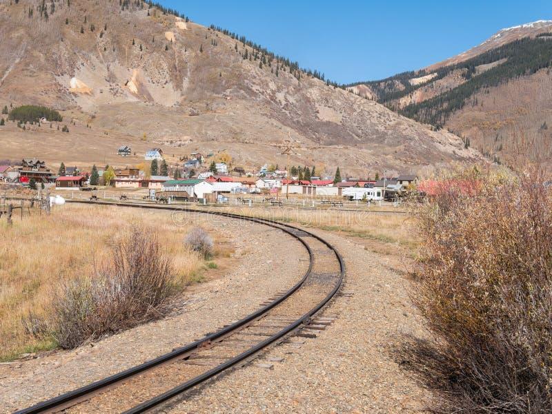 Silverton storico, Colorado immagini stock