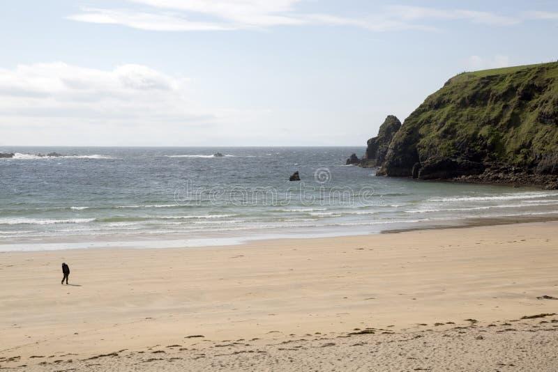 Silvertrådstrand; Malin Beg Donegal, Irland arkivfoton