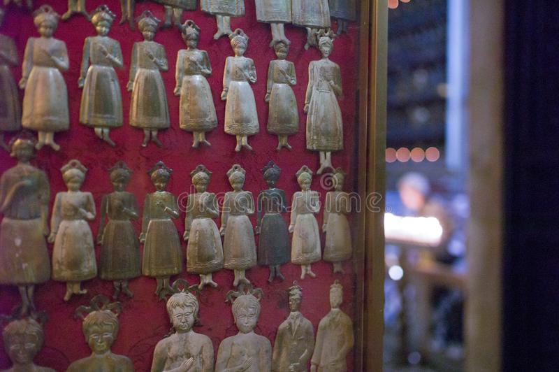 silvervotives, Naples royaltyfri fotografi