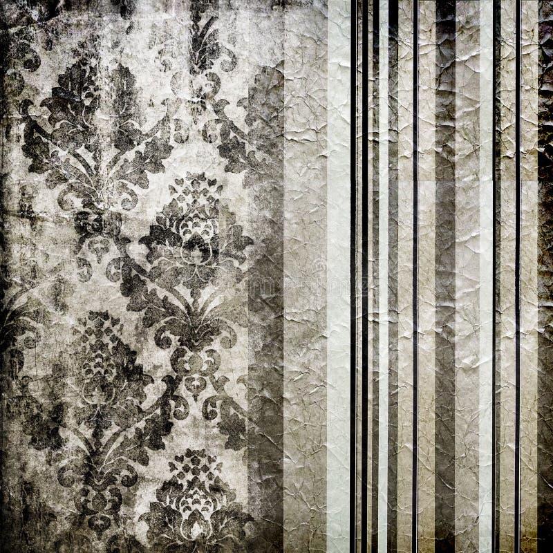 Silverwallpaper royaltyfri illustrationer