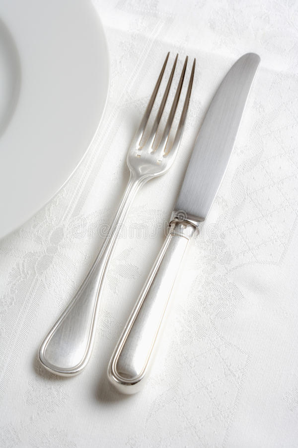 Download Silverware stock image. Image of white, silver, table - 11369245