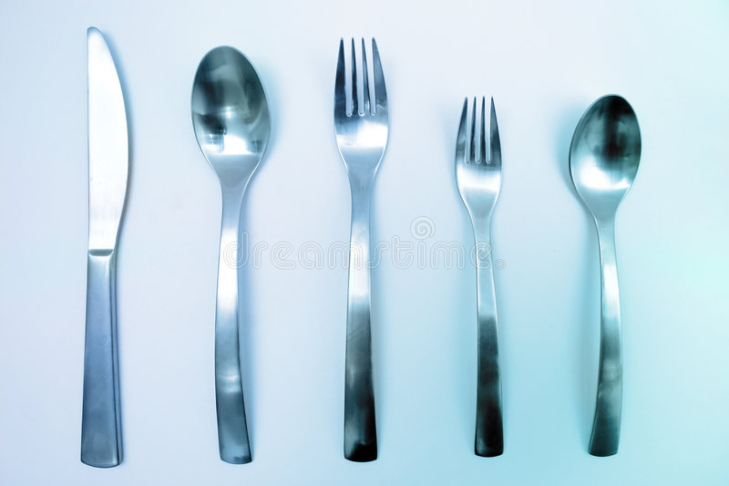 Download Silverware stock image. Image of chrome, dinner, silverware - 185813