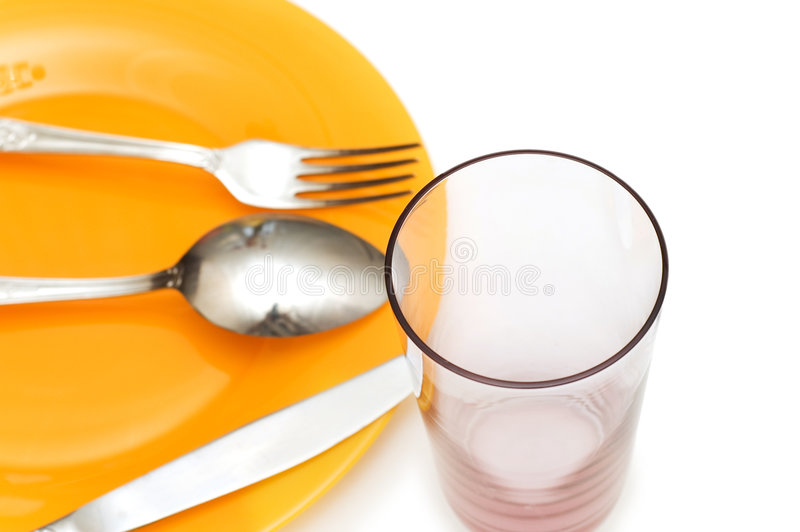 Download Silverware And Glass Isolated Stock Image - Image: 7146803
