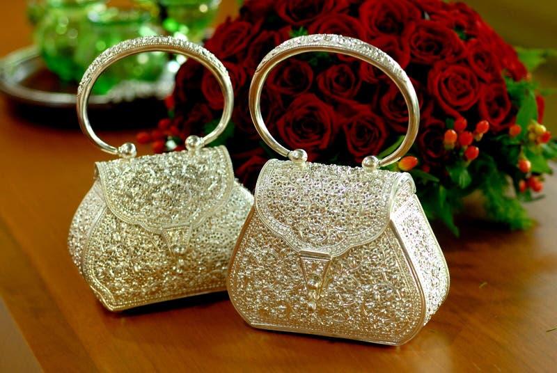 Silverware Handbag stock images