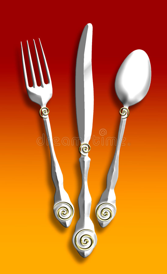 Free Silverware Illustration Royalty Free Stock Image - 1115866
