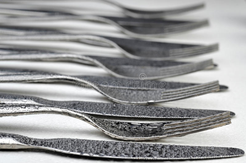 Silverware Ready To Use Royalty Free Stock Photography