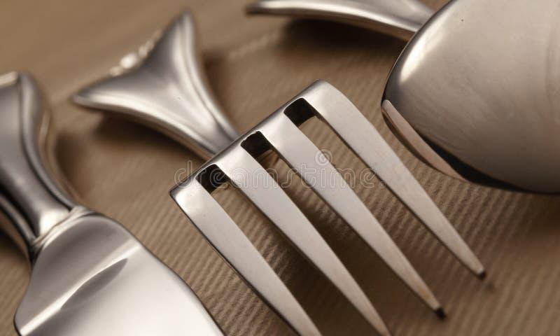 Silverwear lizenzfreie stockfotos