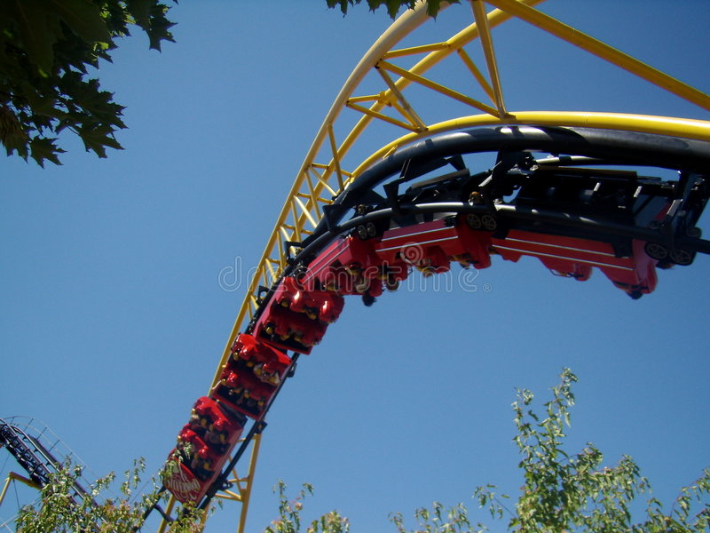 Silverwood Corkscrew Coaster Stock Photography