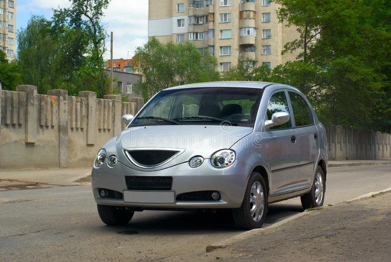 Silvery car stock photography