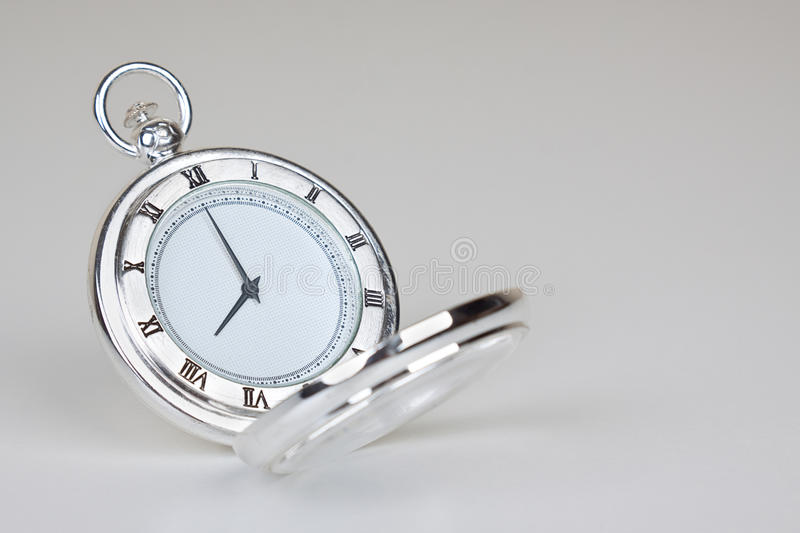 Silvery classic watch royalty free stock photos