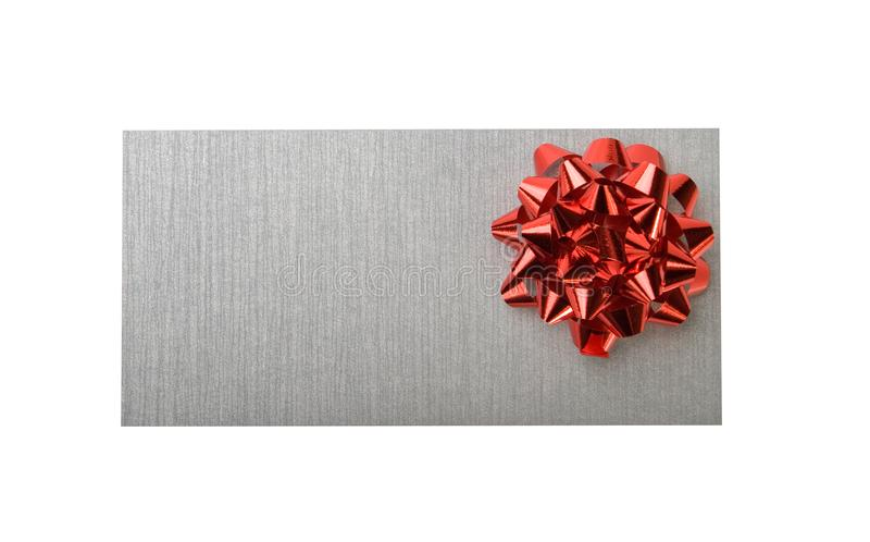 Download Silvery Envelope With Decoration Red Bow Stock Photo - Image: 7847226