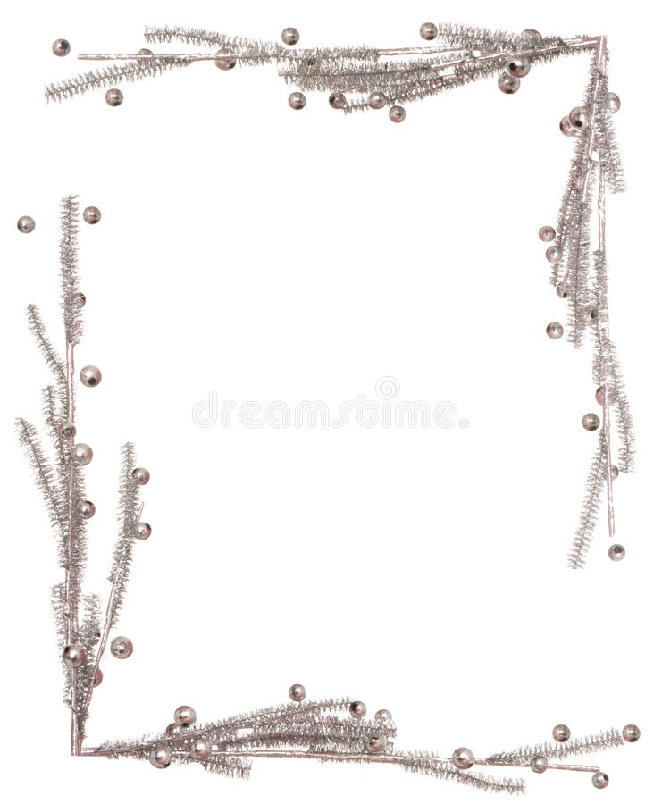 Download A Silvery Frame For Christmas Card Stock Image - Image: 34400969