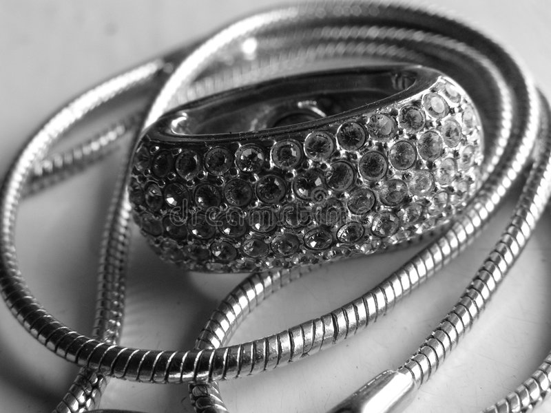 Download Silvery jewel stock photo. Image of necklace, silvery, chain - 38340