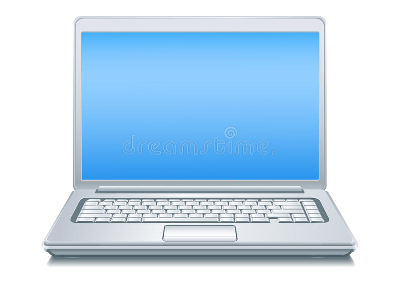 Silvery Laptop vector illustration