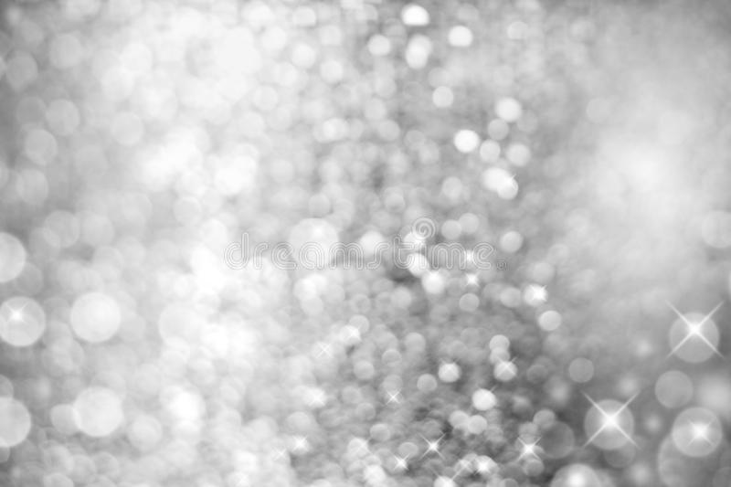 Silver White Light Abstract Christmas Background stock image