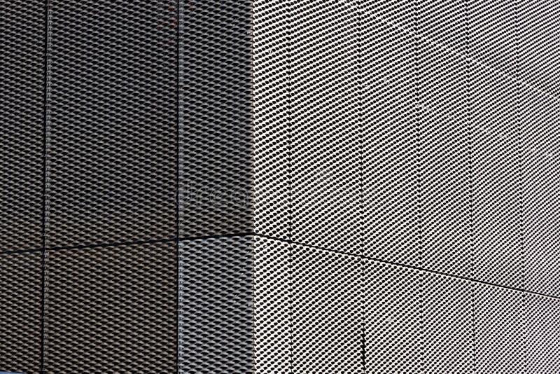 Silveryttersida av Mesh Grille Texture royaltyfri bild