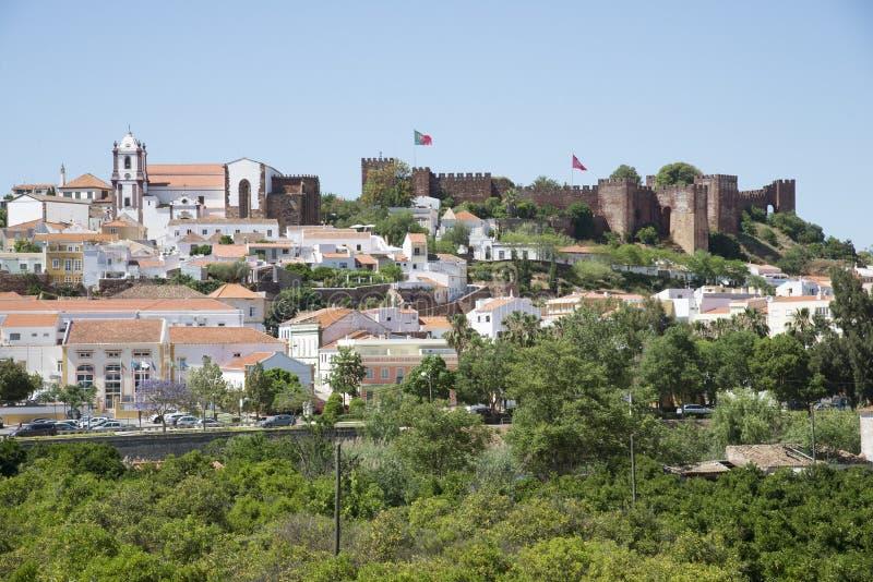 Silves Grodowy i grodzki Algarve Portugalia zdjęcia stock