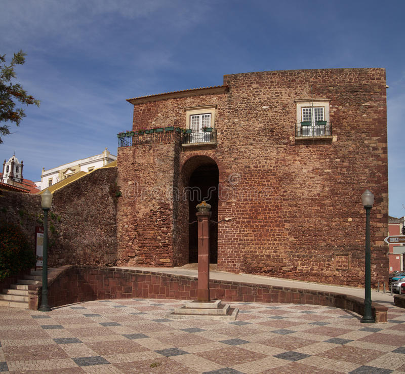 Silves miasta brama zdjęcie stock