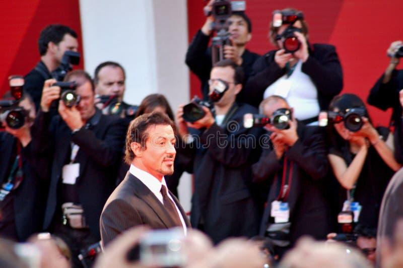 Silvester Stallone sul tappeto rosso fotografie stock
