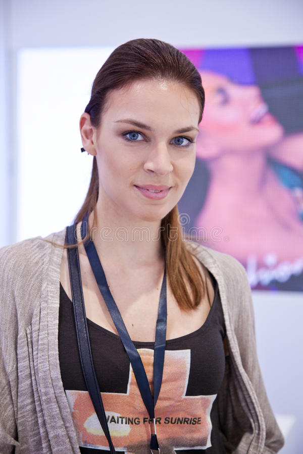 Silvia At Fashion Week Editorial Stock Image
