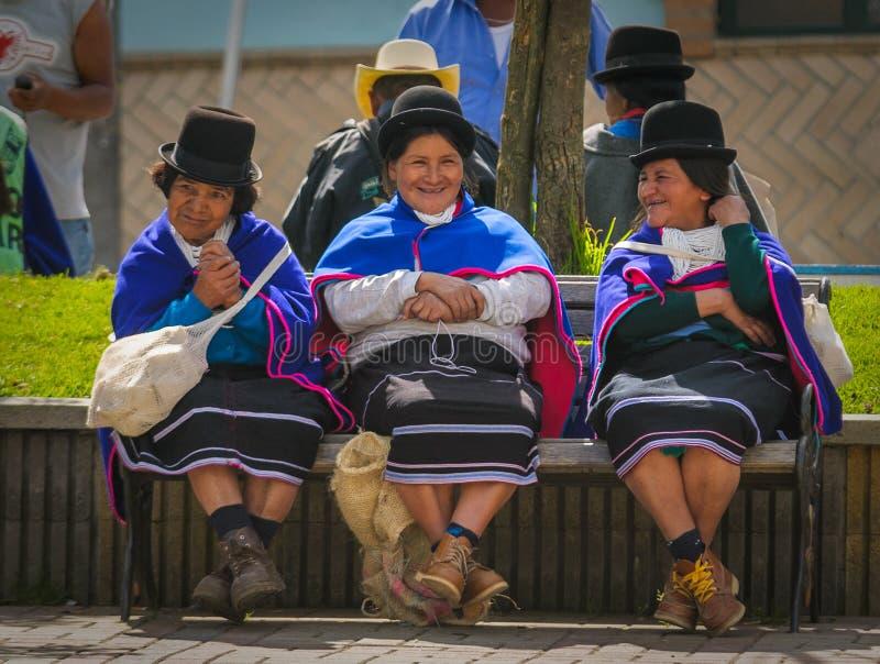 SILVIA, POPAYAN, COLOMBIA - November, 24: Guambiano inheems p royalty-vrije stock fotografie