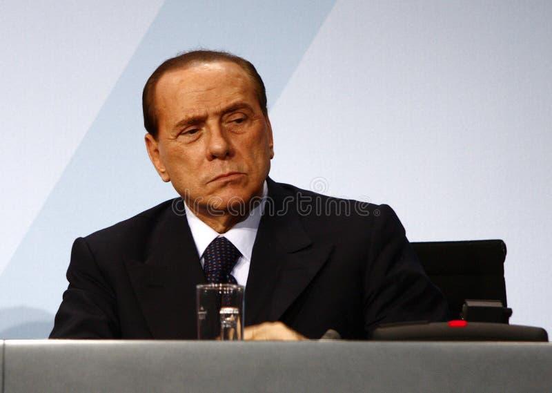 Silvio Berlusconi foto de stock