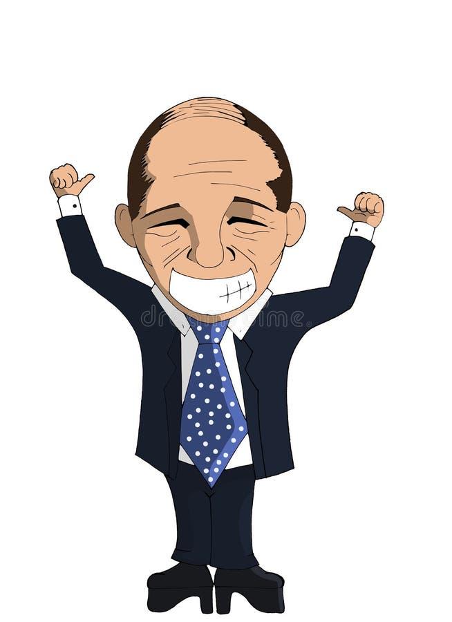 Silvio Berlusconi royalty illustrazione gratis