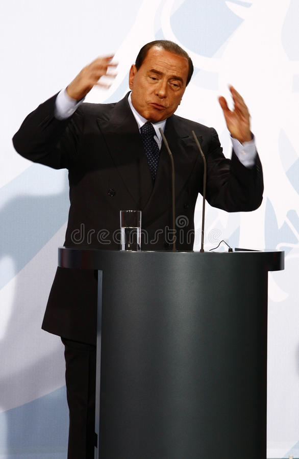 Silvio Berlusconi royaltyfri foto