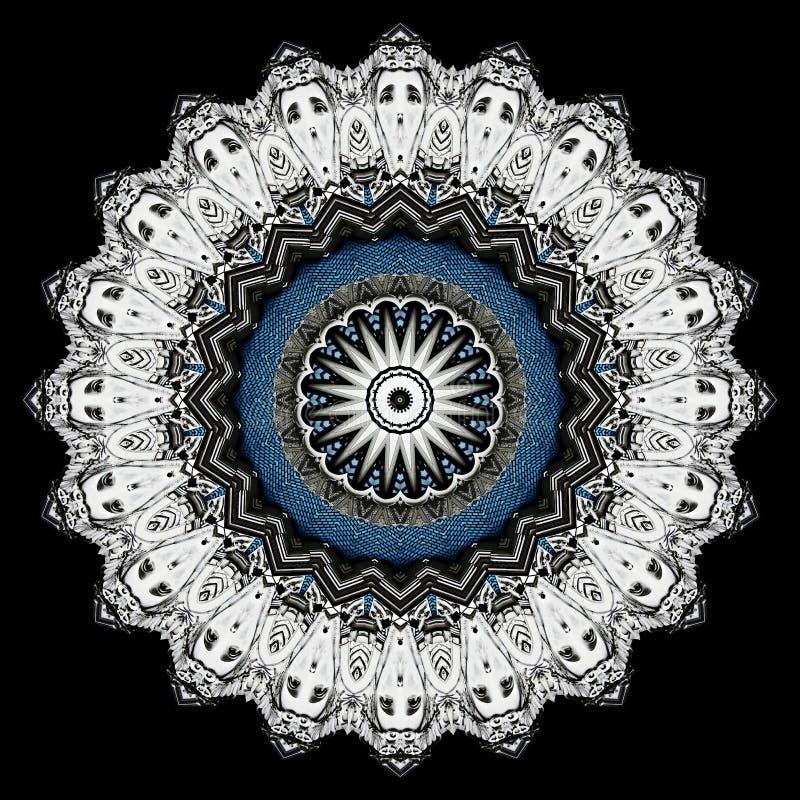 Silvrig stjärna på svart, frambragd dator vektor illustrationer