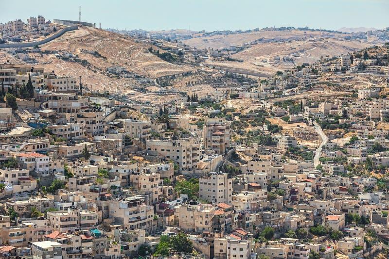 Silwan sąsiedztwo w Jerozolima, Izrael zdjęcia royalty free