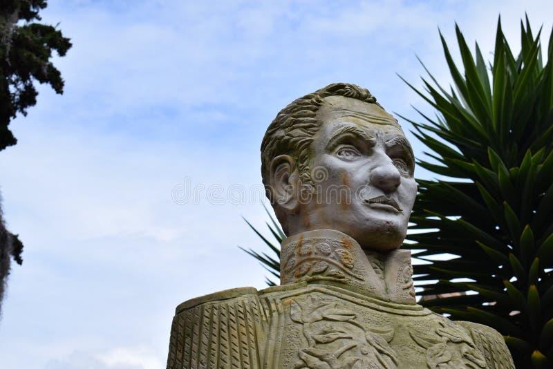 Simó n BolÃvar ` s beeldhouwwerk ` de Bevrijder ` royalty-vrije stock afbeeldingen