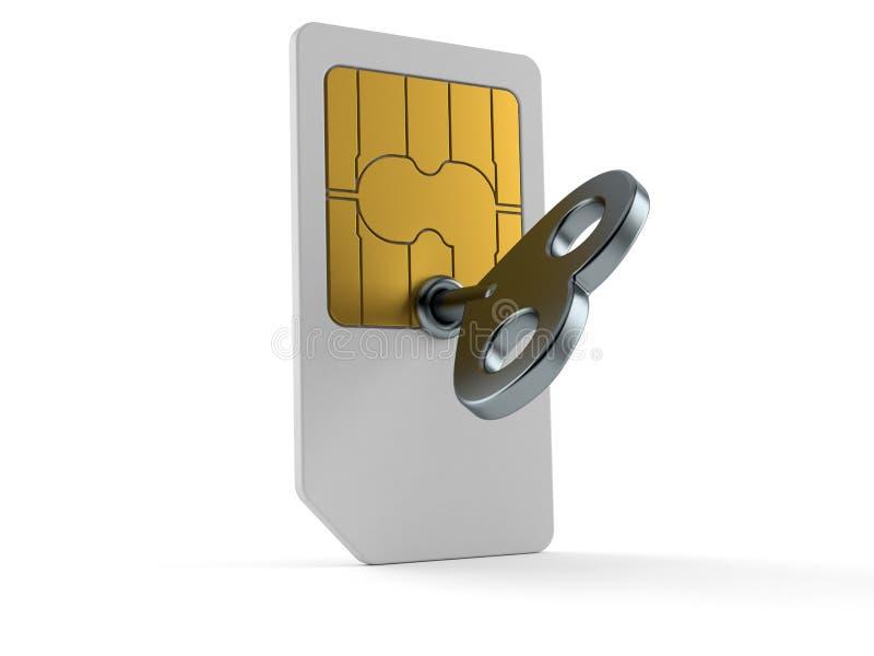 SIM-карта с ключом clockwork бесплатная иллюстрация
