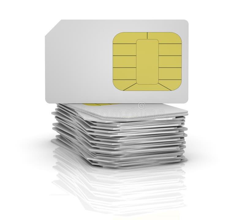 sim карточки иллюстрация штока