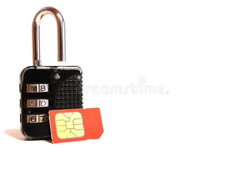 SIM-bloqueo foto de archivo libre de regalías