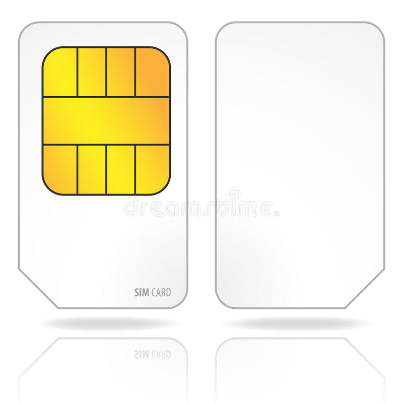 Download Sim card stock vector. Illustration of cellphone, digital - 17041238