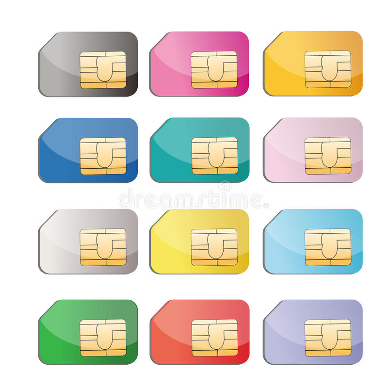 Download Sim card stock vector. Image of electronic, global, closeup - 21310114