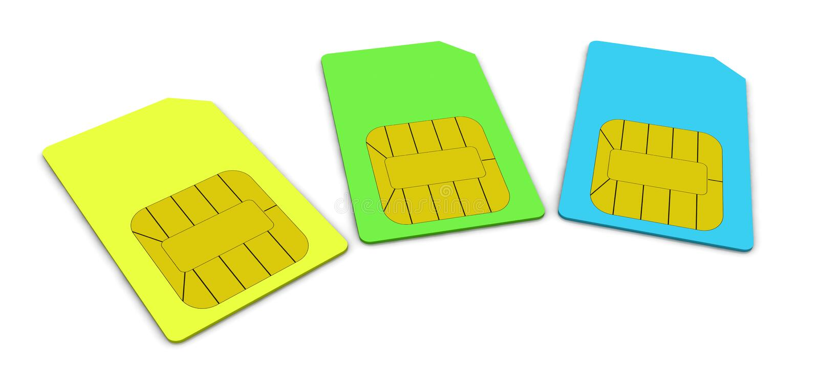 Download Sim card stock illustration. Image of dial, computer - 22345483