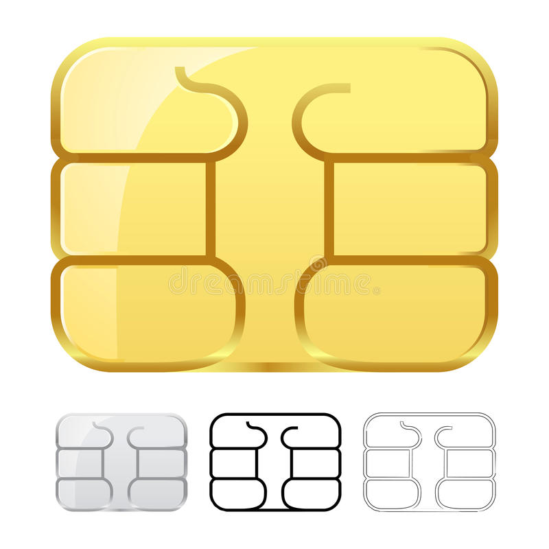 Download Sim Card Chip Isolated On White Stock Vector - Image: 30821552