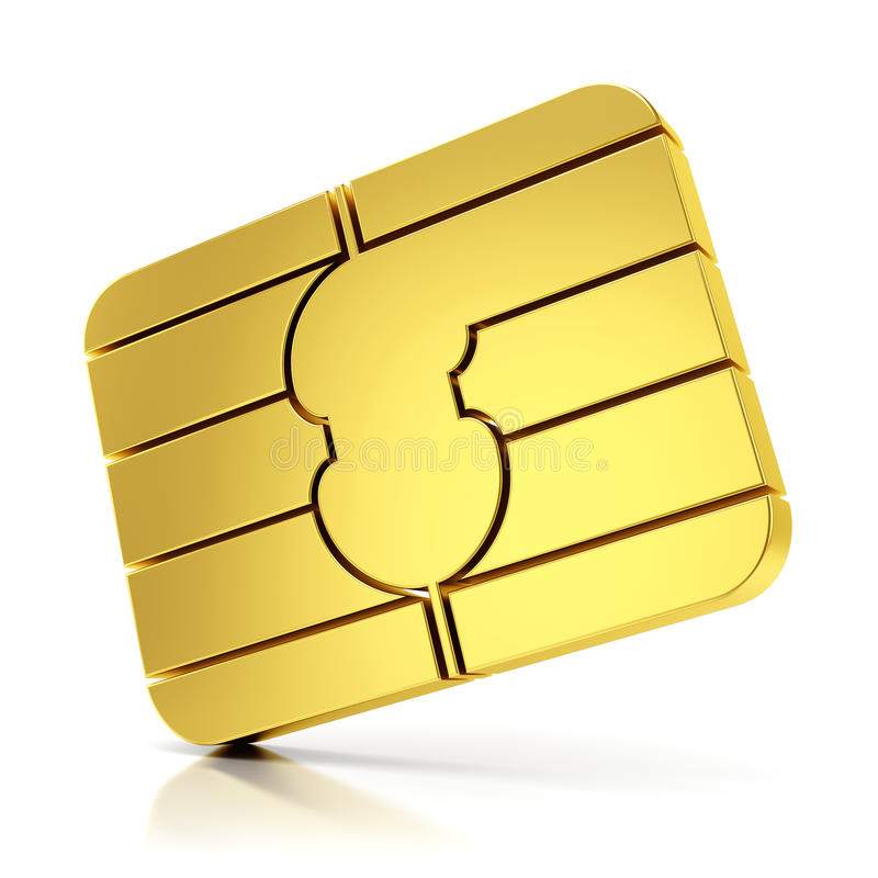 Download SIM card chip stock illustration. Image of concept, glossy - 35450515
