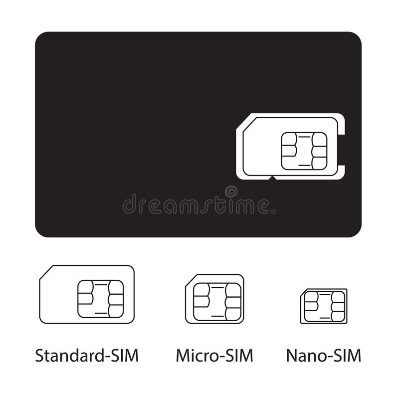 Download Sim card collection stock vector. Illustration of cell - 28410072