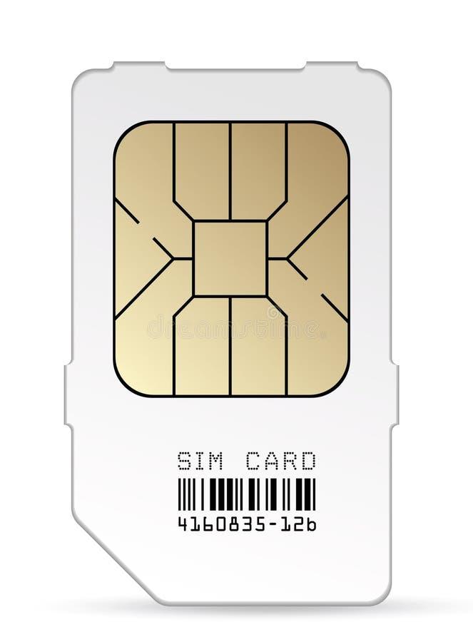 Sim card stock illustration