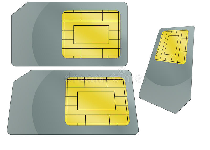 SIM Card Illustration stock photo