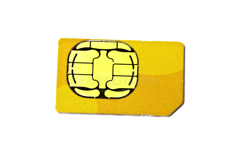 Sim card for mobile phone stock image