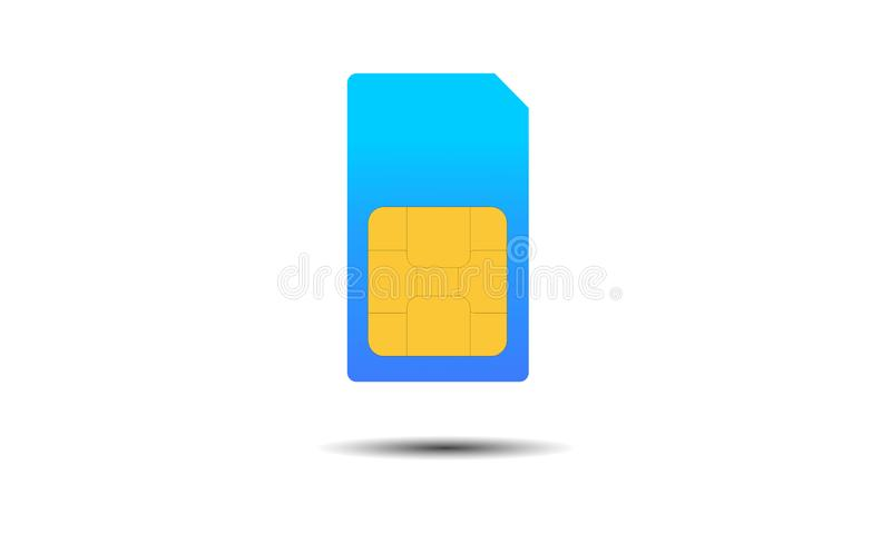 Sim Card. Mobile telecommunications technology symbol. Vector stock illustration. stock illustration